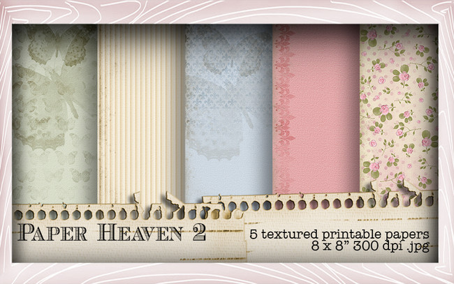 5 Printable Papers - Lil Miss Sugarpops Kit 2...Craft printable download digital stamps/digi scrap kit