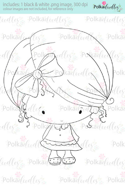 Lil Miss Cute - Sugarpops Kit 2...Craft printable download digital stamps/digi scrap kit