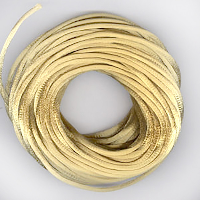 Antique Gold 2.5mm luxury Rats tail satin cord 1m