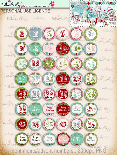 60+ Printable Christmas Sentiments - Winnie White Christmas...Craft printable download digital stamps/digi scrap