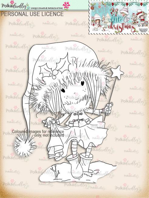 Watch your Step - Digital Stamp download. Winnie White Christmas printables.Craft printable download digital stamps/digi scrap