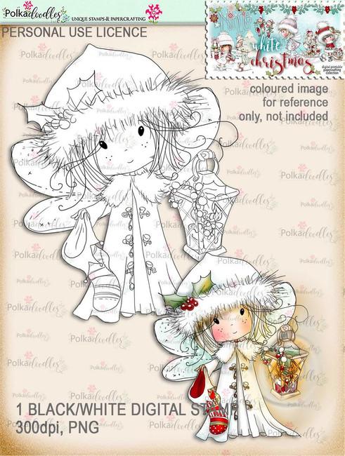 Lantern - Digital Stamp download. Winnie White Christmas printables.Craft printable download digital stamps/digi scrap