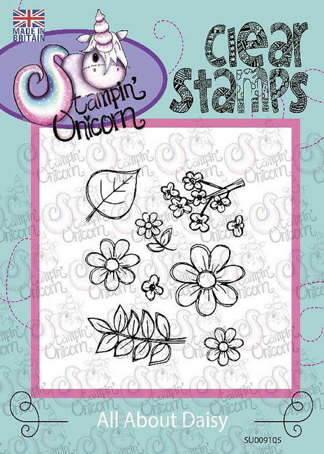 All About Daisy - Clear Stamp Set by Stampin Unicorn