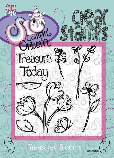 Treasured Blooms - Clear Stamp Set by Stampin Unicorn