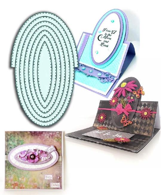 Pierced Oval Easel die set by LDRS Creative