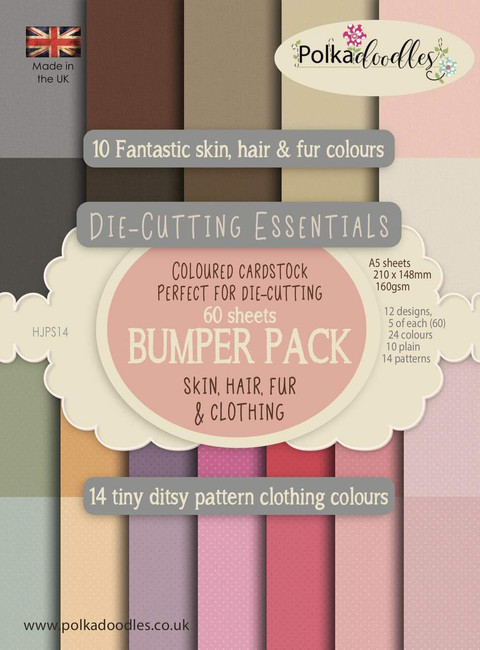Skin, Hair & Fur Bumper 60 sheet Cardstock for die cutting