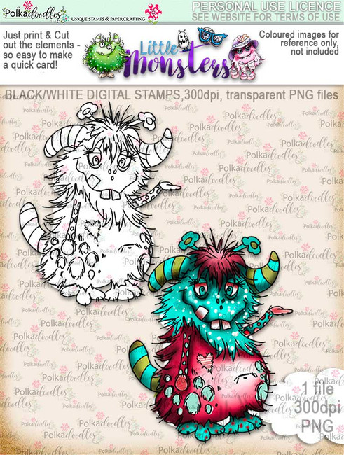Little Monsters Malkolm digi stamp download