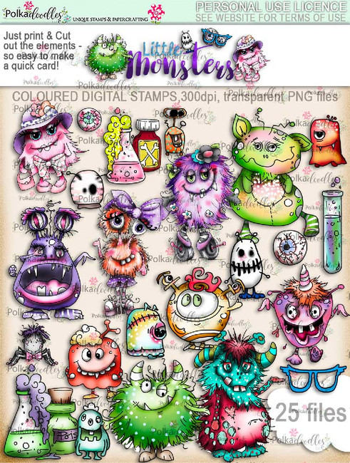 Little Monsters digi kit download - Top Banana deal