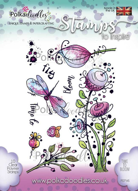 Craft Products Clear Rubber Stamps Polkadoodles Stamps