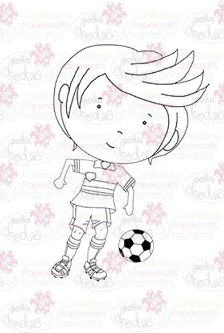 Footballer - downloadable digi stamp