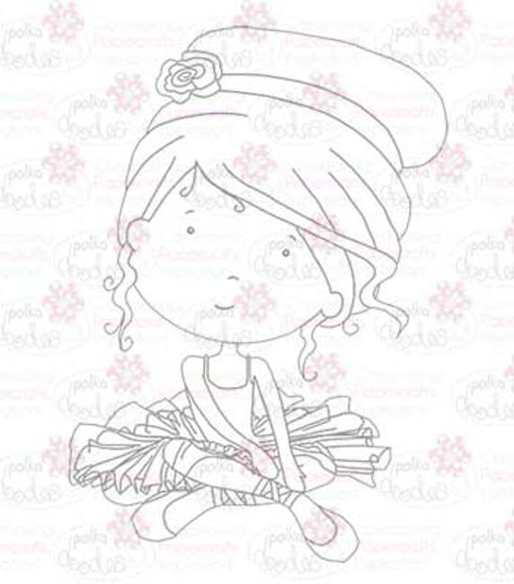 Ballerina digital stamp download