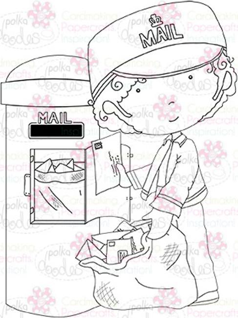 Post/mail man digital stamp download