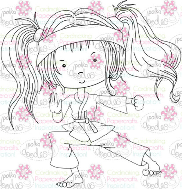 Karate Girl digital stamp download
