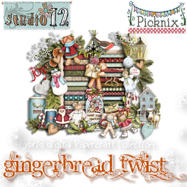 Picknix 2 Gingerbread Twist Craft Download Bundle