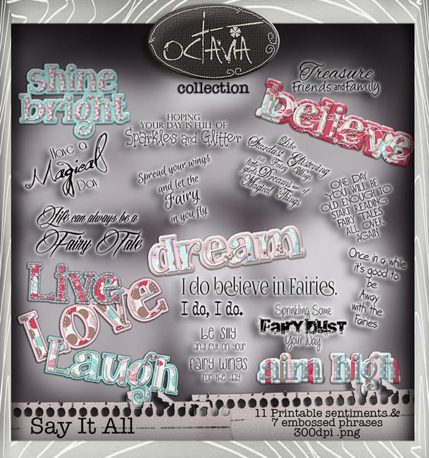 Octavia Moonfly - Say It All Digital Craft Download Bundle