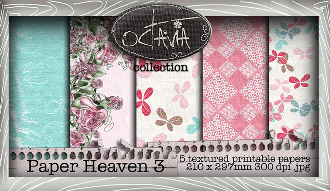 Octavia Moonfly - Paper Heaven 3 Digital Craft Download Bundle
