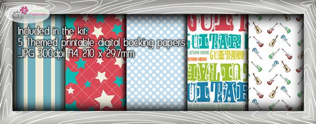 Guitar Theme Paper Craft download
