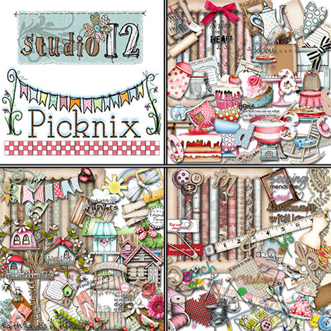 Picknix 1 Digital Craft Download Bundle x 3 kits