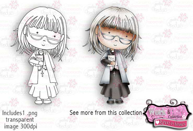 Vicar Digital Craft Stamp download