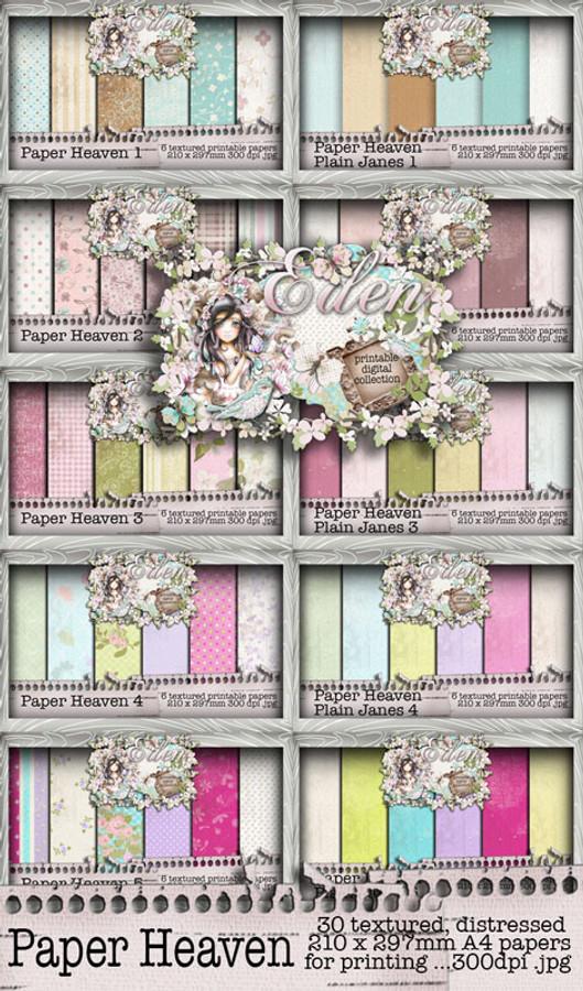 Eden Collection - Paper Heaven 1-10 Digital Craft Download Bundle
