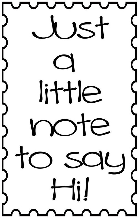 Just a Little note - printable Digital Stamp free download