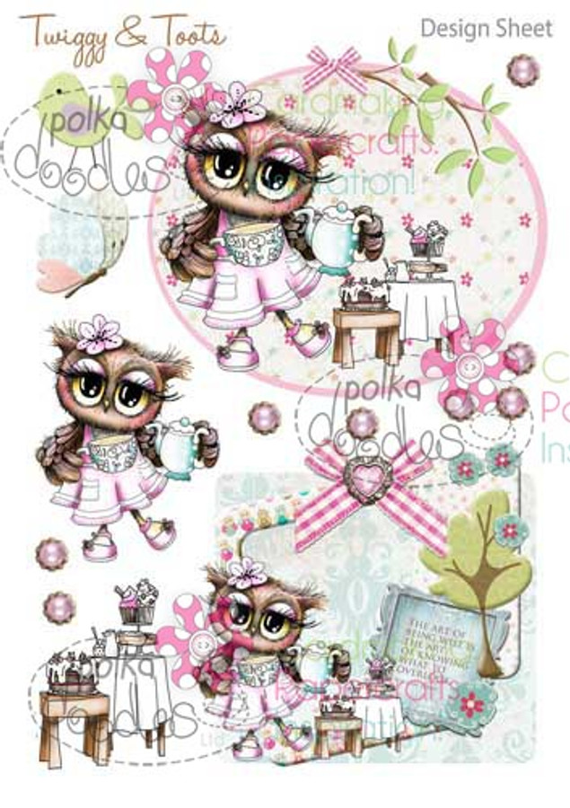 Twiggy & Toots Digital Craft Download - Design Sheet 3