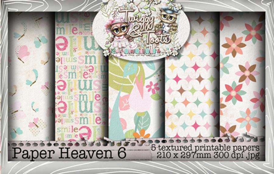 Twiggy & Toots Paper Heaven 6 bundle - Digital Craft Download