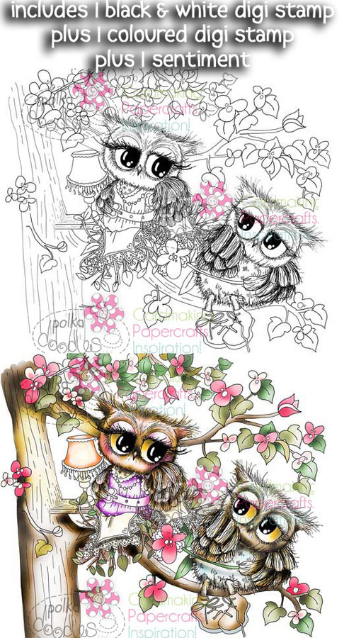 New Love/Friends - Twiggy & Toots - Digital Stamp Craft Download