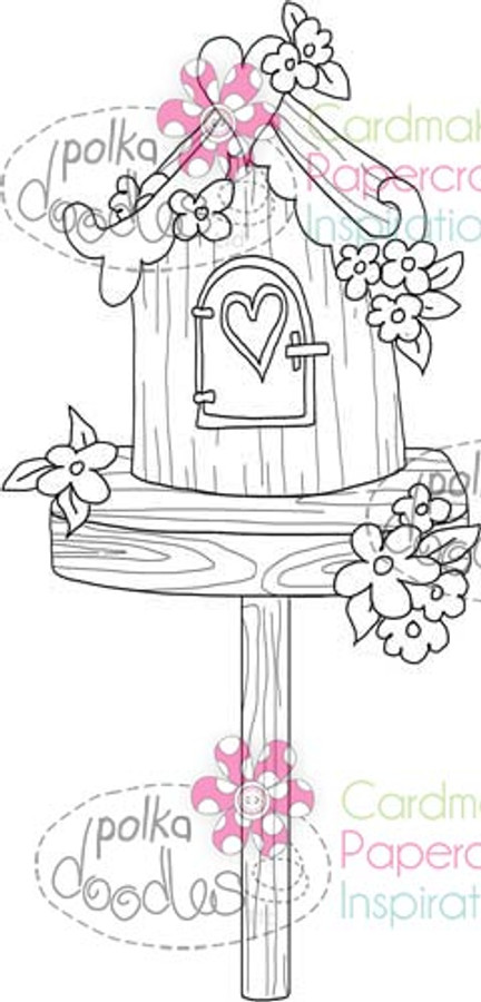 Beautiful Birdhouse 3 Digital Stamp Craft Download