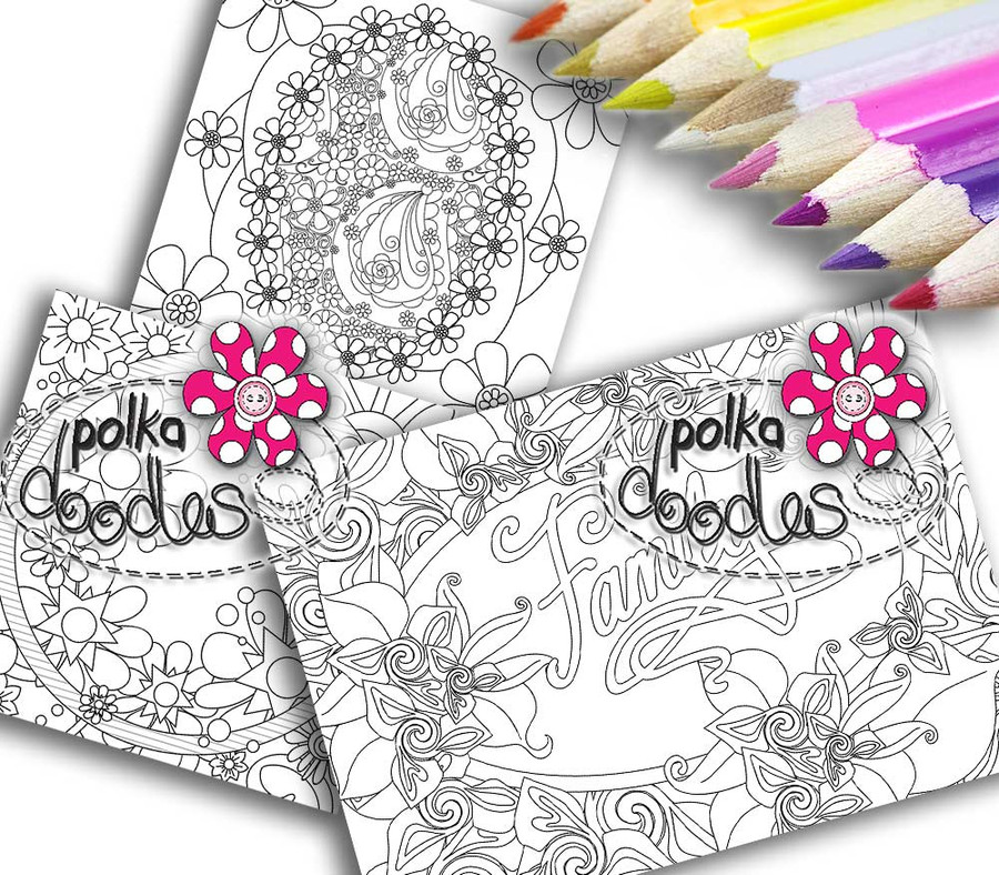 Adult Colouring pages bundle 2 - Downloadable Adult printable Colouring Book Pages