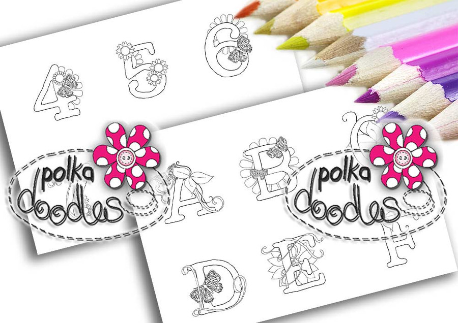 Adult Colouring pages bundle Alphabet 1  - Downloadable Adult printable Colouring Book Pages
