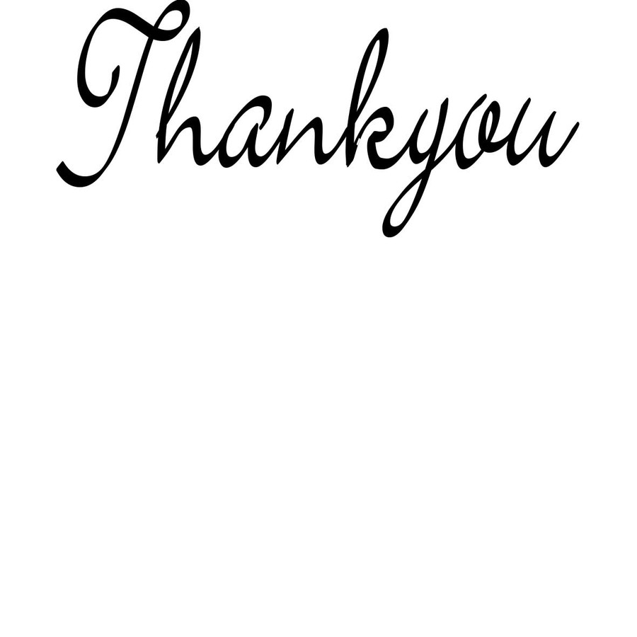 Thankyou - Sentiment download printable digital stamp