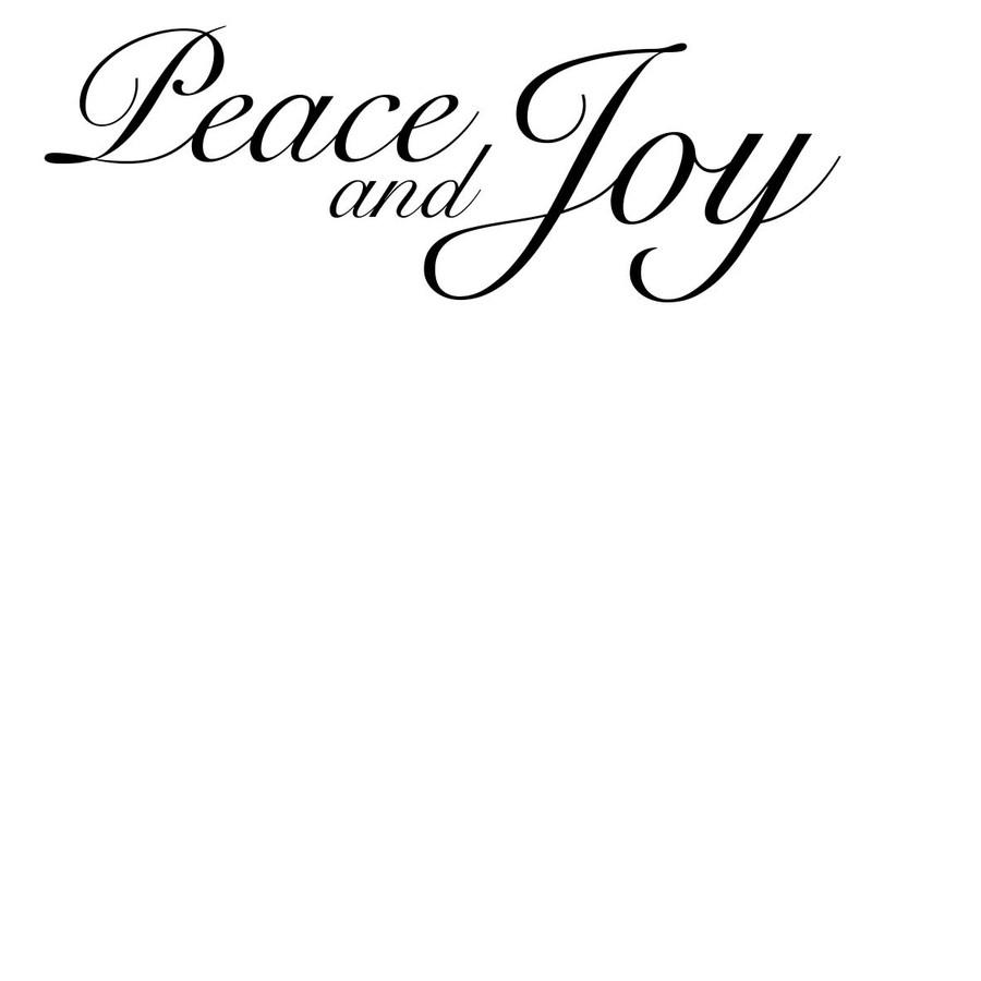 Peace and Joy - Sentiment download printable digital stamp
