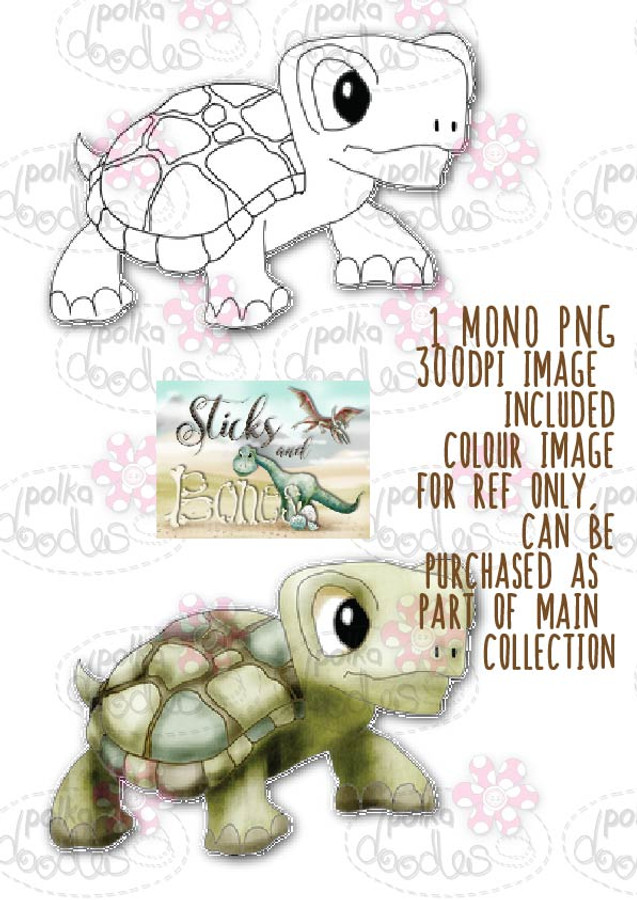 Sticks & Bones - Dinosaur Tortoise Turtle 4 - Digital Stamp CRAFT Download