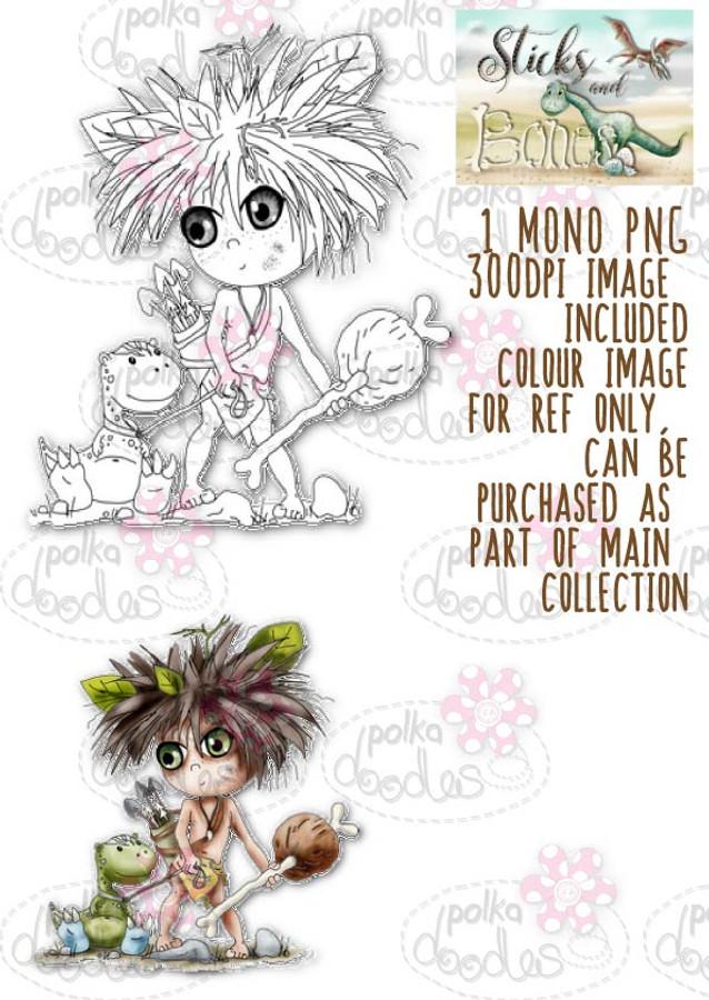 Sticks & Bones - Let's Go/Dinosaur - Digital Stamp CRAFT Download