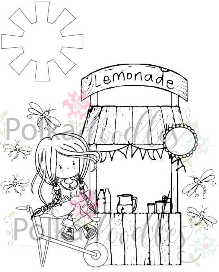 Lemonade Days - digital craft stamp download