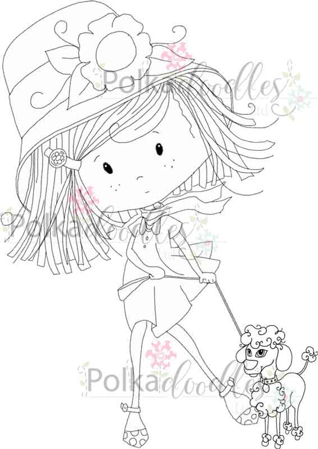 Winnie Walkies - digital craft Stamp download
