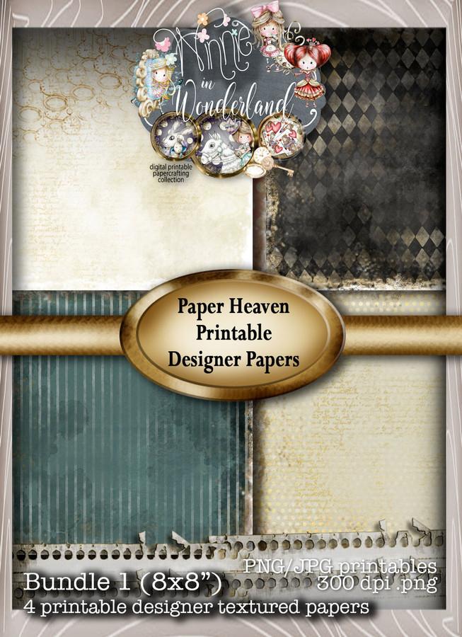 Winnie Wonderland Paper Heaven 1 - Printable Digital download