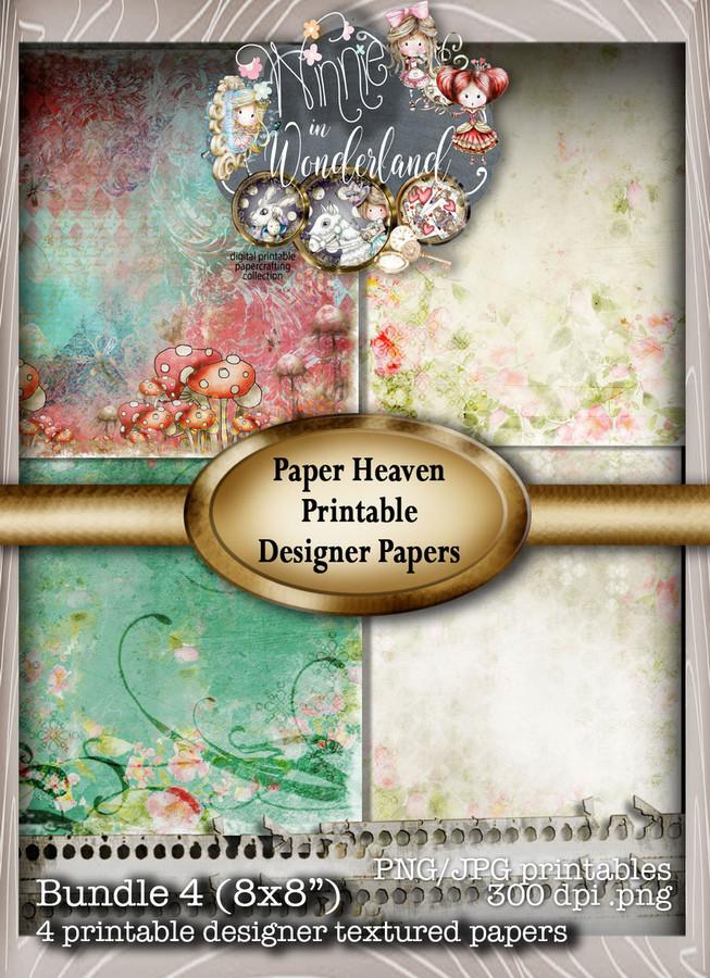 Winnie Wonderland Paper Heaven 4 - Printable Digital download