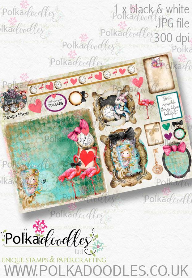 Winnie Wonderland Design Sheet 2 - Printable Digital download