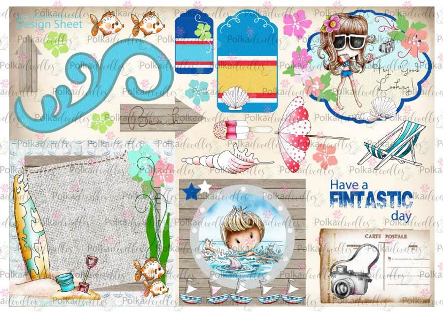 Winnie Starfish/Sandcastles Design Sheet 9 DOWNLOAD