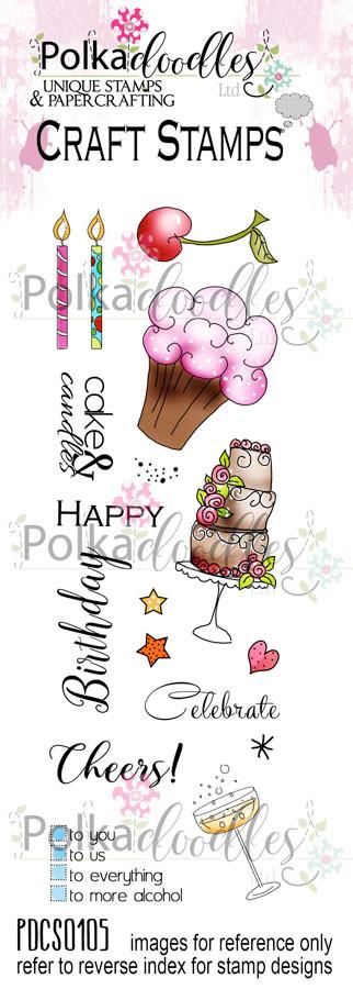 Celebrations Clear Stamp set