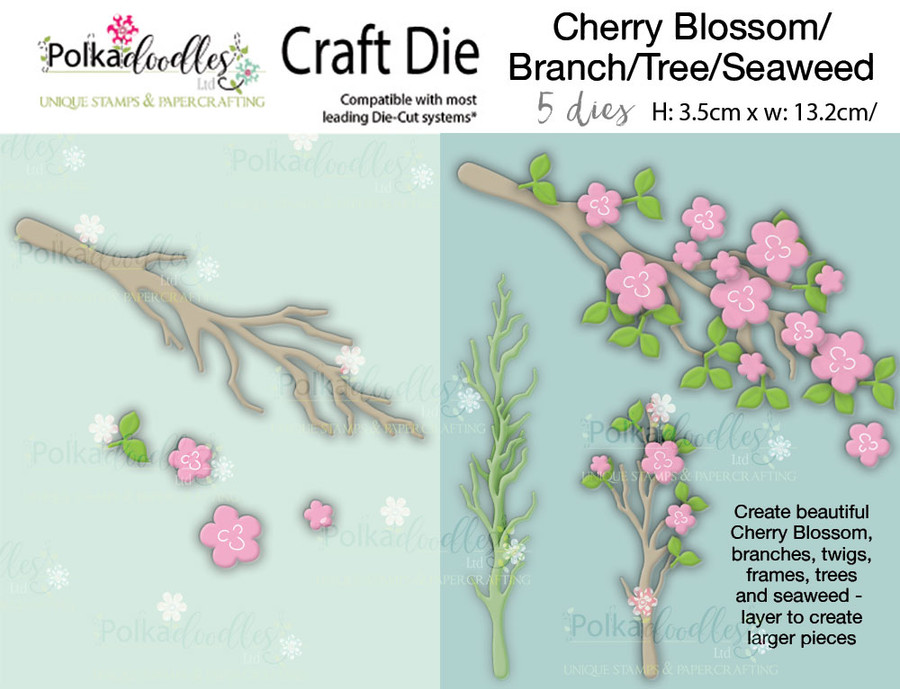 Cherry Blossom/branch/tree/seaweed craft die