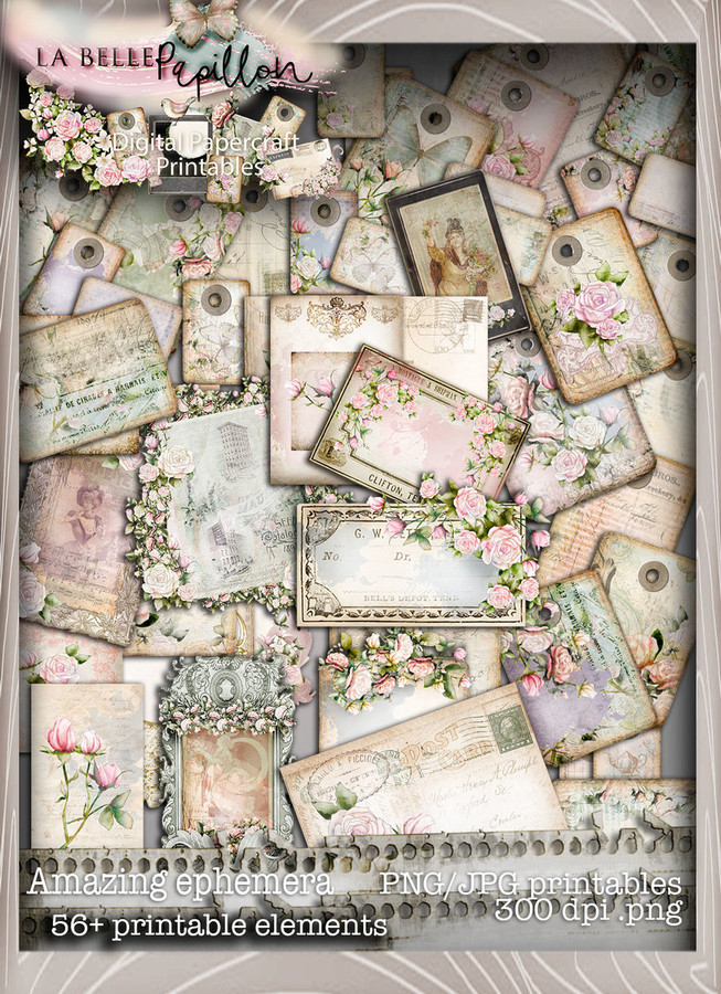 Belle Papillon Vintage AMAZINGNESS - Download Printables