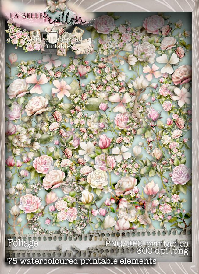 Belle Papillon Foliage  - Download Printables