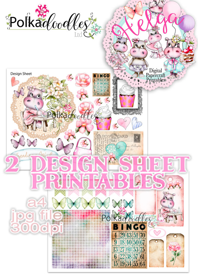 Helga Hippo - Design Sheet 3 Duo DOWNLOAD