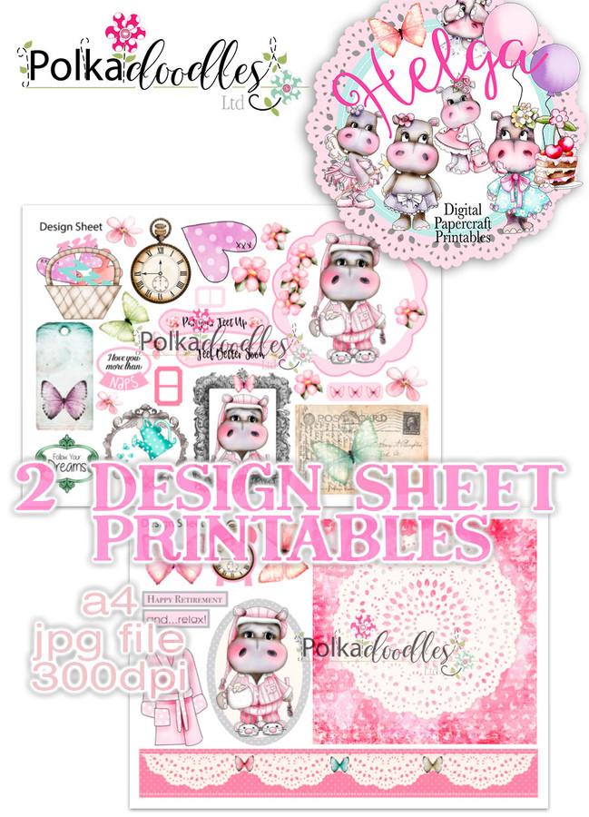 Helga Hippo - Design Sheet 12 Duo DOWNLOAD