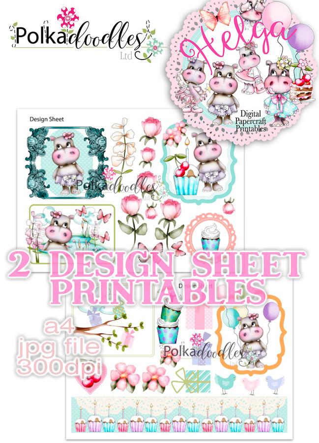 Helga Hippo - Design Sheet 14 Duo DOWNLOAD