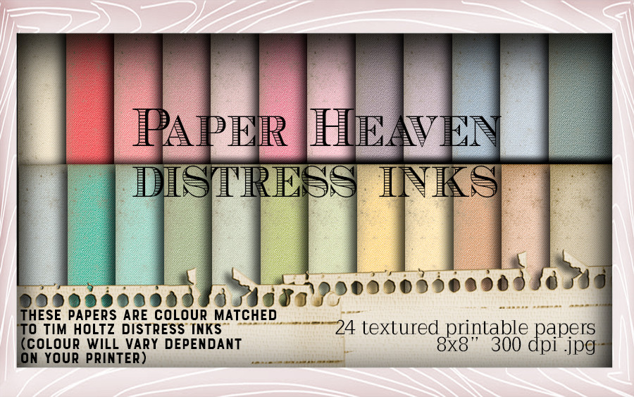 24 Distress ink swatched printable papers - Lil Miss Sugarpops Kit 1...Craft printable download digital stamps/digi scrap kit