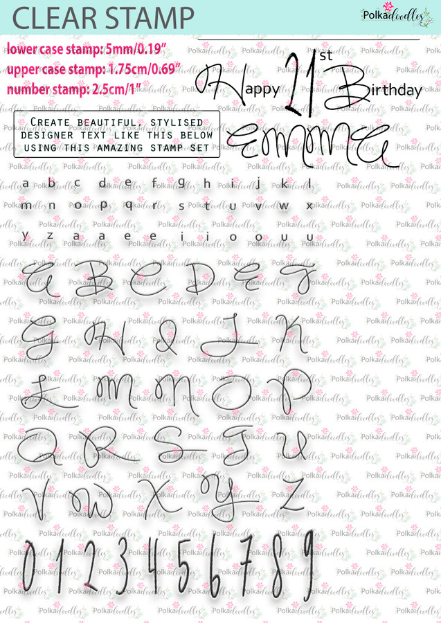 Amazing Beautiful Alphabet/Numbers - clear craft stamps.